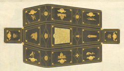 Lord Nelson's coffin with description of the ornaments and devices thereon